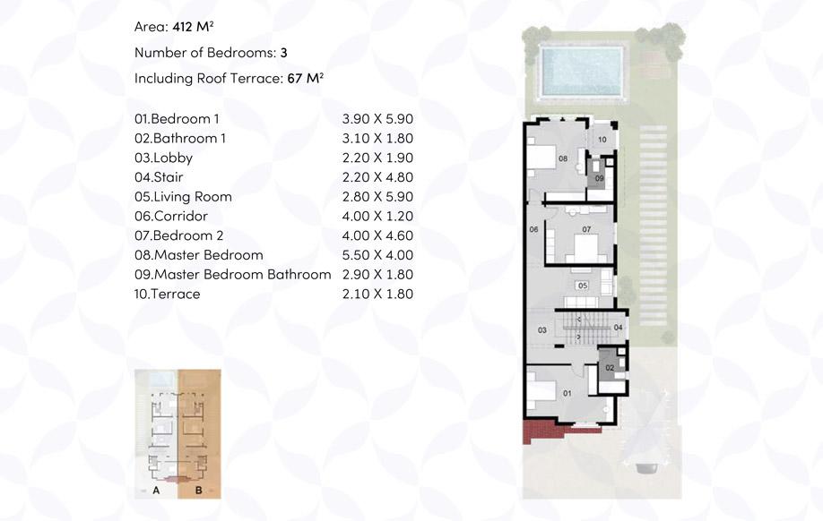 Twin Villa - First Floor