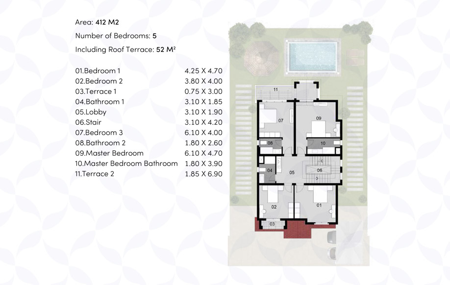 VILLA 'AS' - First floor
