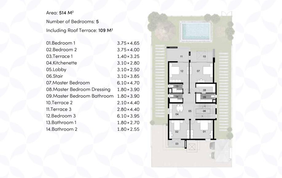 Modern 01 Villa 'A' - First Floor