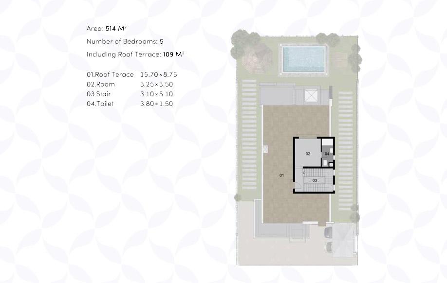 Modern 01 Villa 'A' - Penthouse