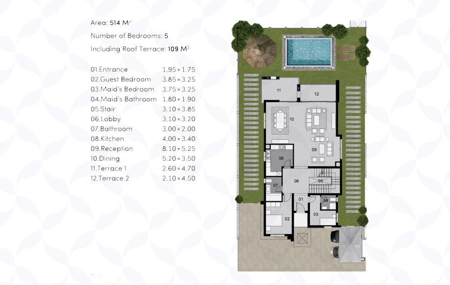 Modern 01 Villa 'A' - Ground Floor
