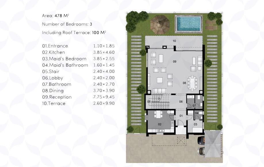 Villa 'B' - Ground Floor