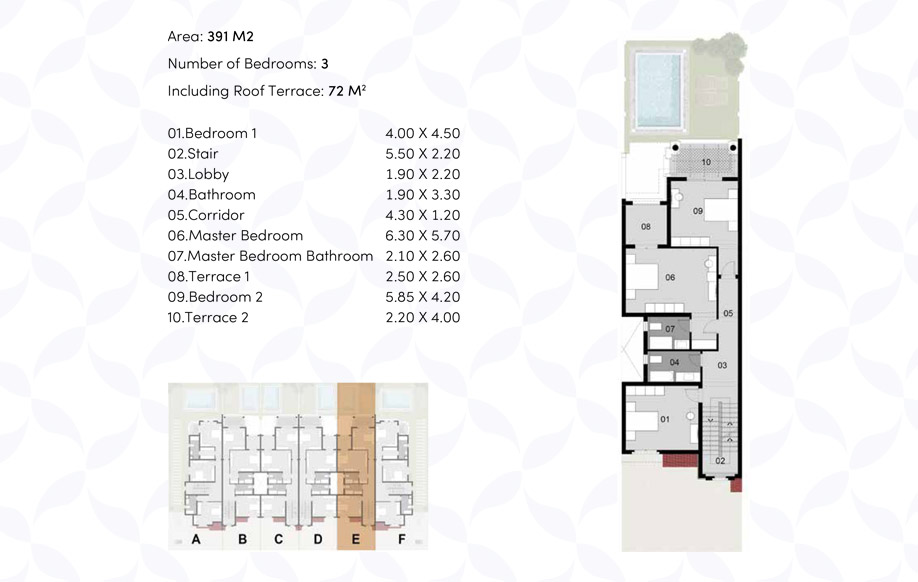 Town House '6' Middle - Firstd Floor