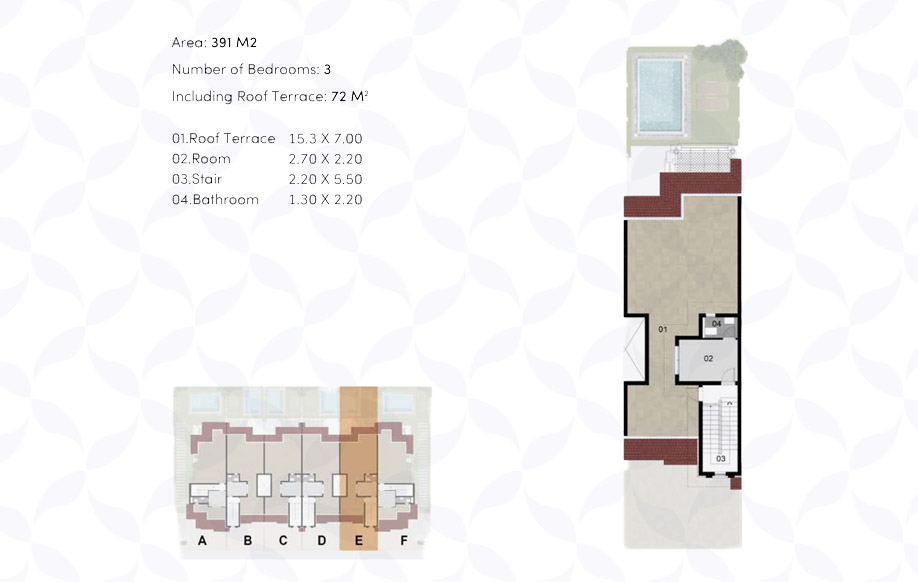 Town House '6' Middle - Penthouse