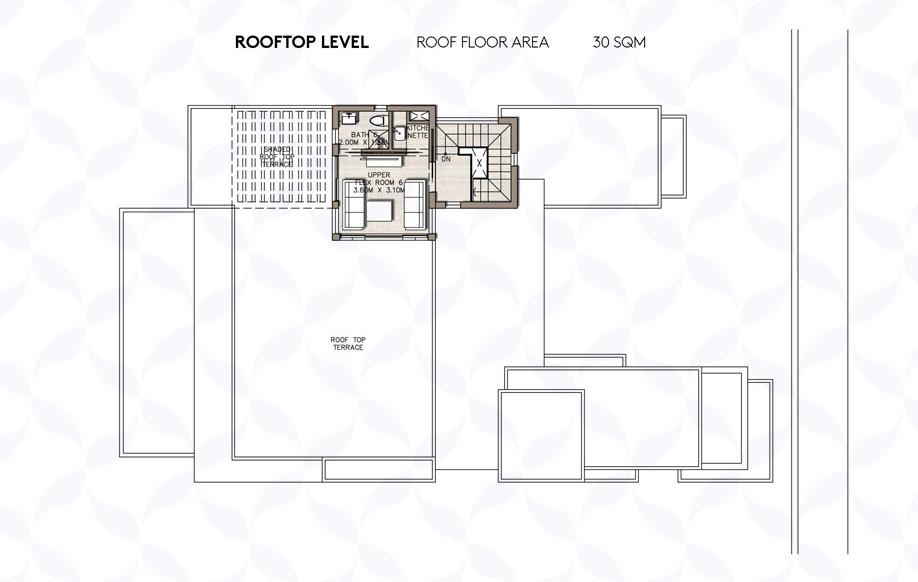 Coast 82 Medium Villa - Roof Floor