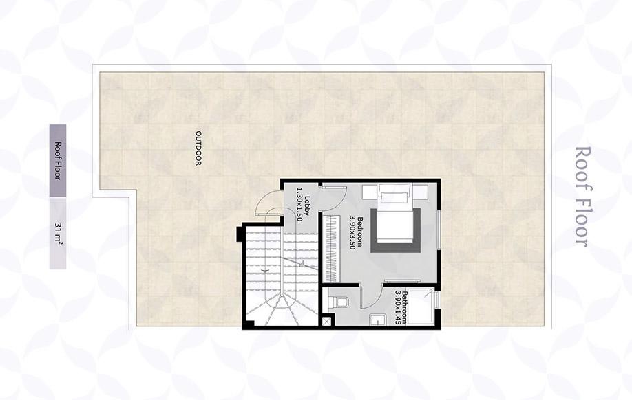 Town Corner Roof Floor