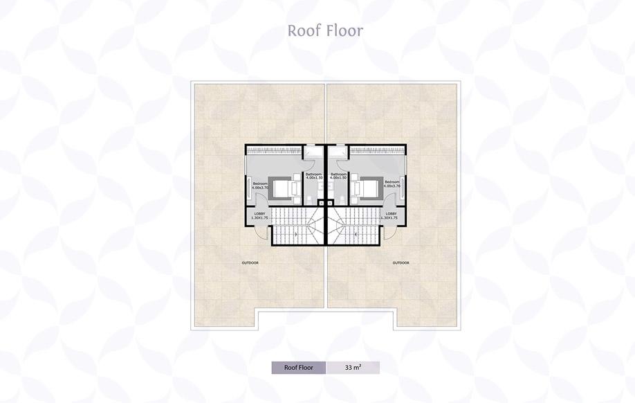 Twin House Roof Floor