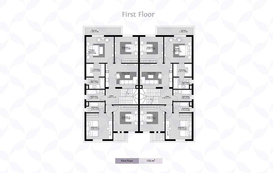 Azzar Twin House B First Floor