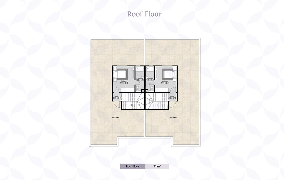 Azzar Twin House B Roof Floor